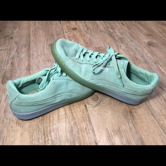 Puma Shoes   Puma Suede Teal To Blue
